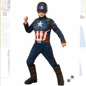 Kids Captain America Deluxe Costume